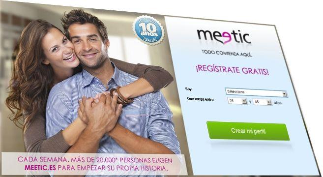 Página de Meetic